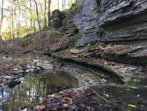 Скалы и вода Стоковое Изображение