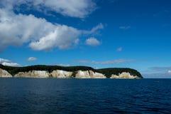 Скалы мела на острове gen ¼ RÃ, Германии, Европе Стоковые Фотографии RF