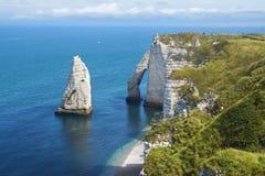 Скалы мелка на d'Albatre Коута. Etretat Стоковое фото RF