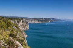 Скалы на адриатическом побережье Стоковые Изображения