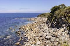 Скалы на границе между Францией и Испанией Стоковое Изображение RF