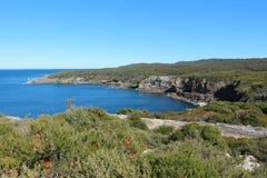 Скалы над заливом Jervis, Австралией Стоковые Изображения RF