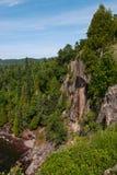 Скалы на парке штата Tettegouche Стоковое Фото