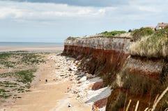 Скалы на Hunstanton, Великобритании Стоковое фото RF