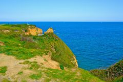 скалы Нормандия Стоковое фото RF