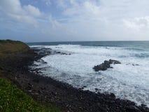 Скалы около Kapaa, Кауаи, Гаваи Стоковые Фотографии RF