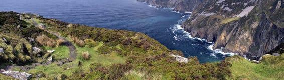 Скалы панорамы лиги Slieve Стоковые Изображения RF