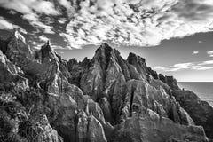 Скалы песчаника формируя странные формы и текстуры Стоковое Изображение RF