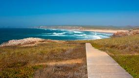 Скалы Португалии, океана Стоковые Изображения RF