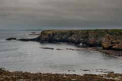 Скалы утеса на маяке головы Dunnet Стоковая Фотография