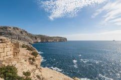 Скалы Dingli в Мальте Стоковое Фото
