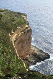 Скалы Dingli, Мальта Стоковые Фото