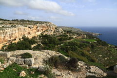 Скалы Dingli, Мальта Стоковые Изображения RF