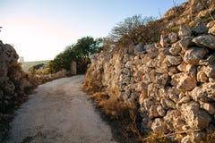 Скалы Dingli Стоковые Фотографии RF