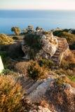 Скалы Dingli Стоковые Изображения RF
