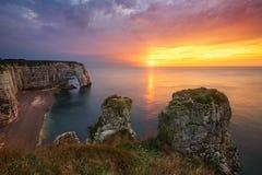 Скалы Etretat, Франция Стоковое Фото