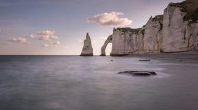 Скалы Etretat Стоковое Изображение RF
