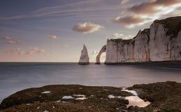 Скалы Etretat Стоковое Фото