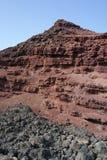 Скалы golfo El, Лансароте, острова canaria Стоковая Фотография RF