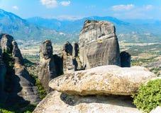 Скалы Meteora, Греции Стоковое Изображение