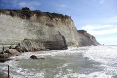 Скалы Peroulades (Корфу, Греции) Стоковые Изображения RF