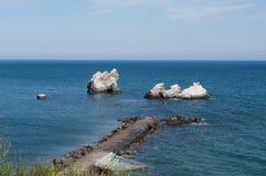 Скалы ` s птицы, Чёрное море, Крым Стоковое Фото