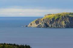 Скалы, seascape и ландшафт Twillingate в Ньюфаундленде, атлантической Канаде Стоковые Изображения