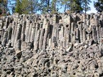 Скалы Sheepeater в национальном парке Йеллоустона (Вайоминге, США) Стоковая Фотография