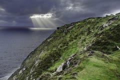 Скалы Slieve Liag в Северной Ирландии Стоковые Фото