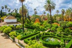 Сквер внутри дворца - Севилья, Испания Стоковое Изображение