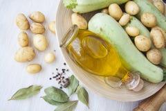 Сквош и картошка с маслом и травами Стоковое фото RF