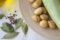 Сквош и картошка Стоковое Изображение