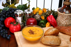 сквош супа butternut стоковое фото rf