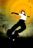 скейтбордист Стоковая Фотография