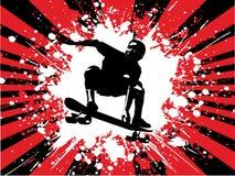 скейтбордист grunge Стоковые Изображения RF