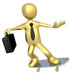 скейтборд бизнесмена иллюстрация вектора