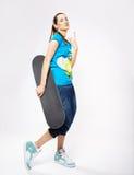 скейтборд девушки Стоковые Фотографии RF