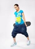скейтборд девушки Стоковая Фотография