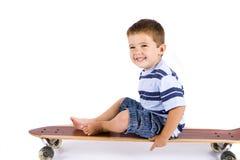 скейтборд мальчика Стоковое Изображение RF