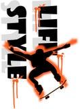 скейтборд мальчика Иллюстрация вектора