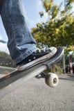 скейтборд мальчика Стоковое Изображение