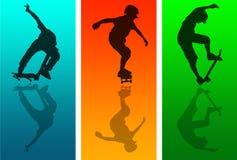 скейтборд отражений Стоковые Изображения RF