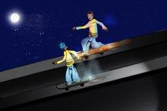 скейтбордисты Стоковое Фото