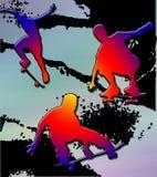 скейтбордист края Стоковые Фотографии RF