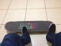 Скейтборд сжатия гризли стоковые изображения rf