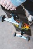 скейтборд человека Стоковая Фотография