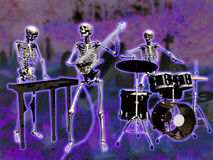 скелеты музыкантов Стоковое Фото