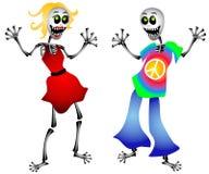 скелеты партии halloween Стоковое Изображение
