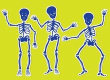 скелеты танцы Стоковые Фото