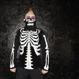 скелет панка costume Стоковые Фото